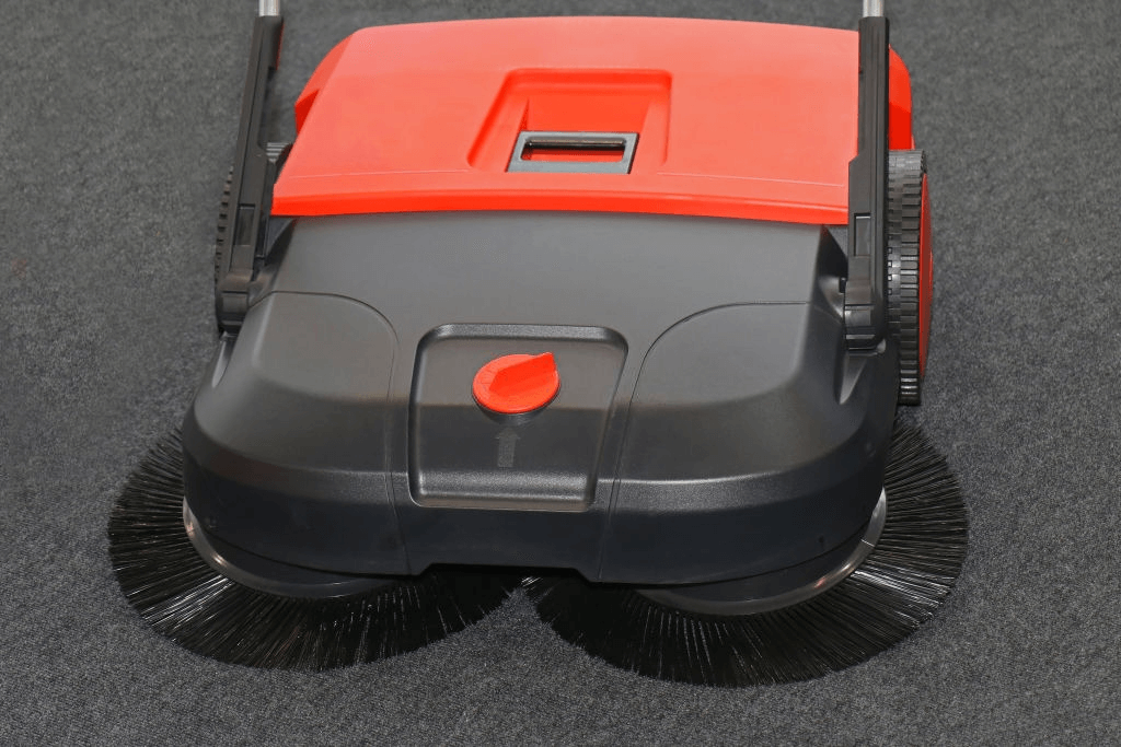 Double brush system electric sweeper