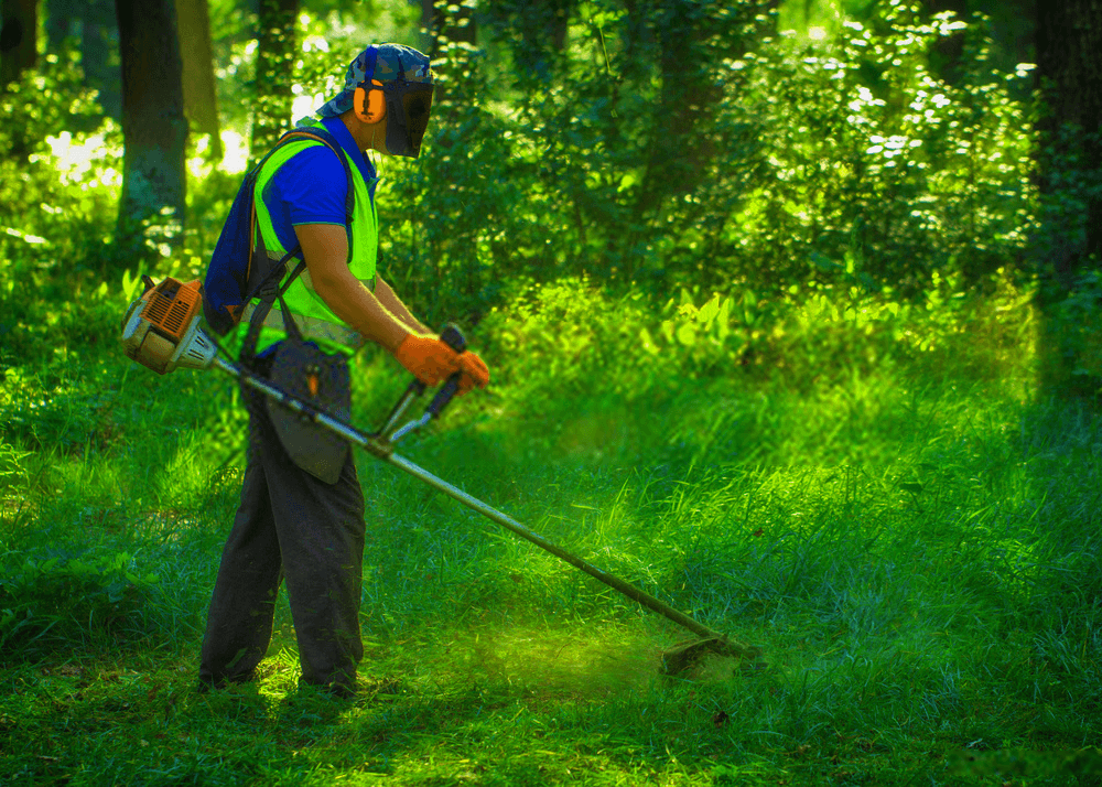 the-gardener-using-electric-string-trimmer