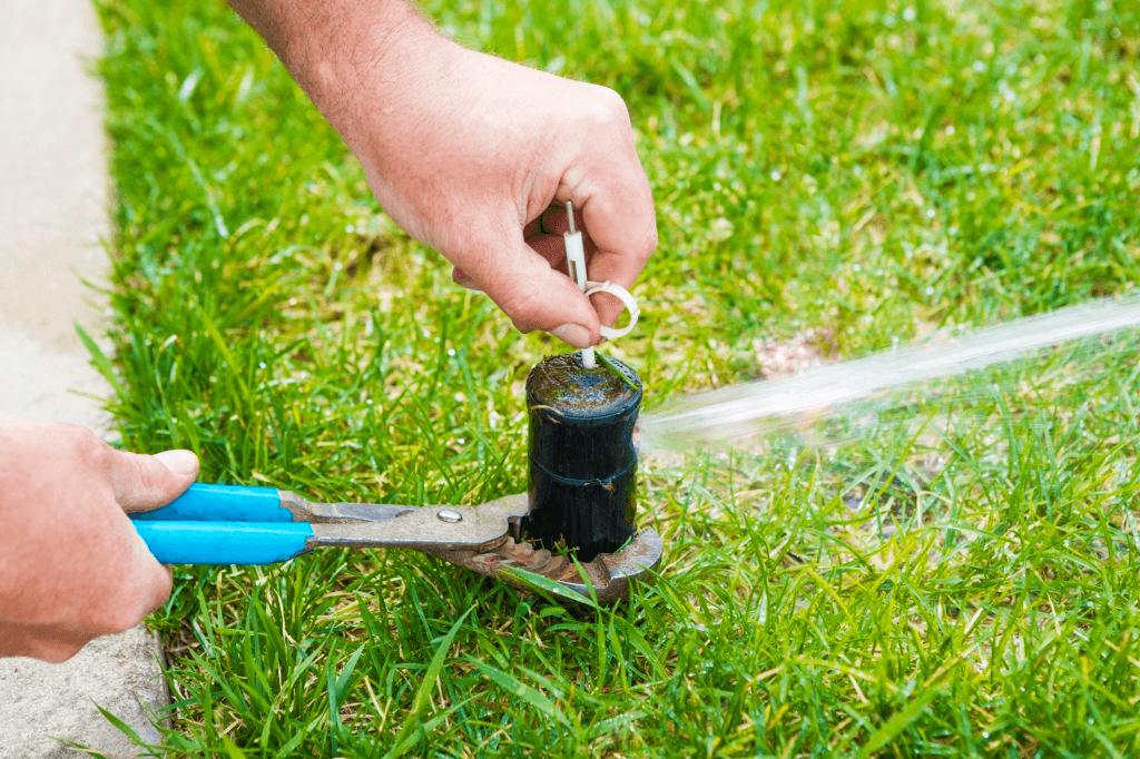 sprinkler-head-adjustment-for-home-lawn-irrigation-system