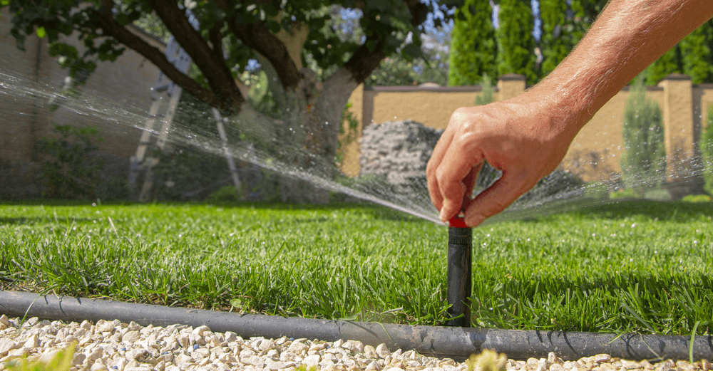 automatic-sprinkler-system-watering-the-lawn-on-a-background-of-green-grass